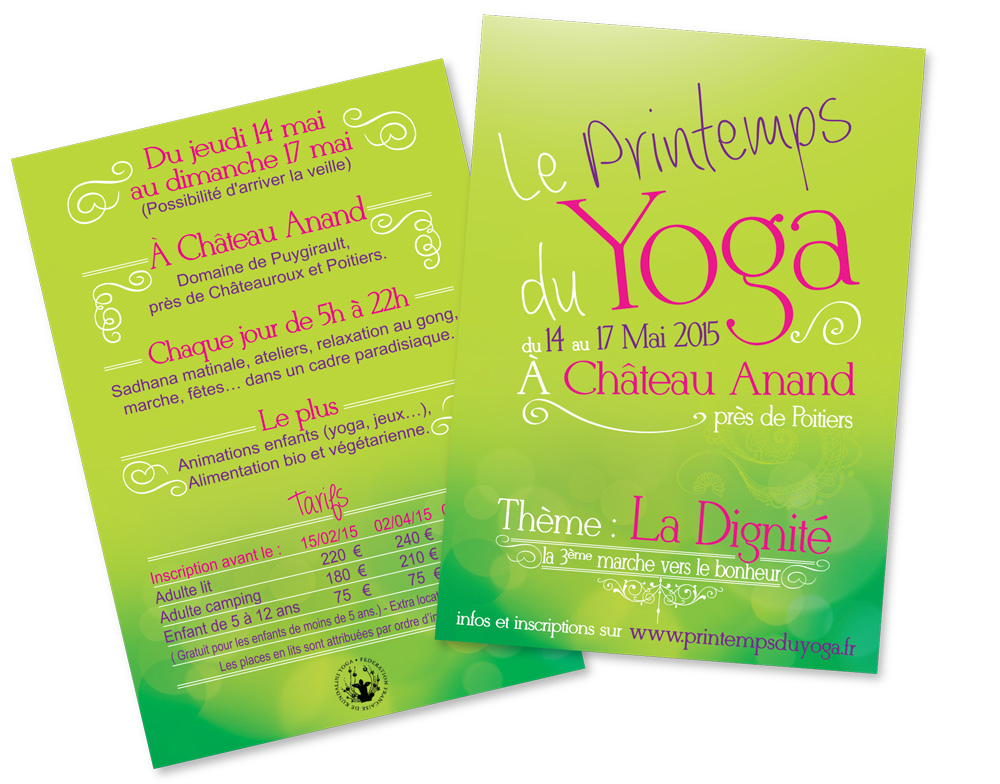 graphisme dépliant yoga