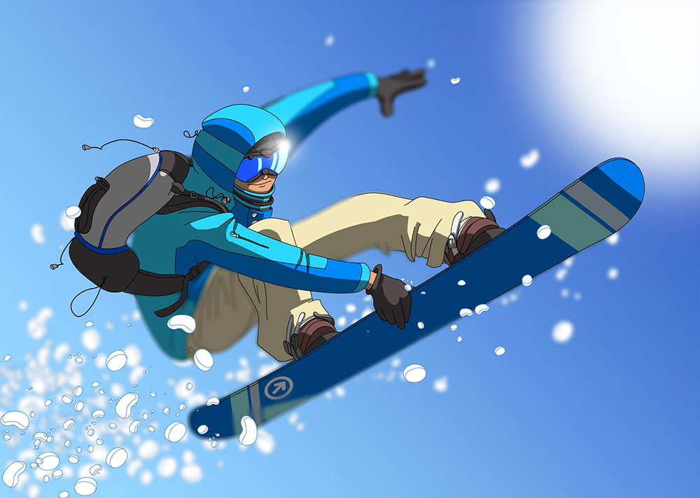 illustration ski