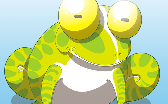 dessin fantaisiste, grenouille
